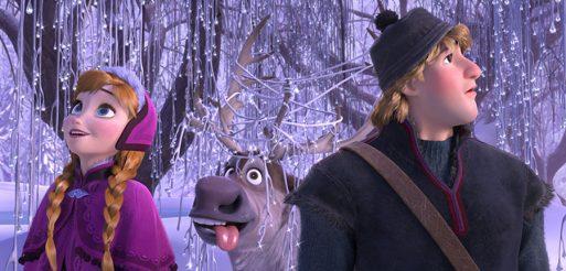 Elsa, Anna, Olaf e toda turma de Frozen