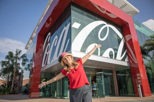 A linda loja da Coca-Cola no Disney Springs