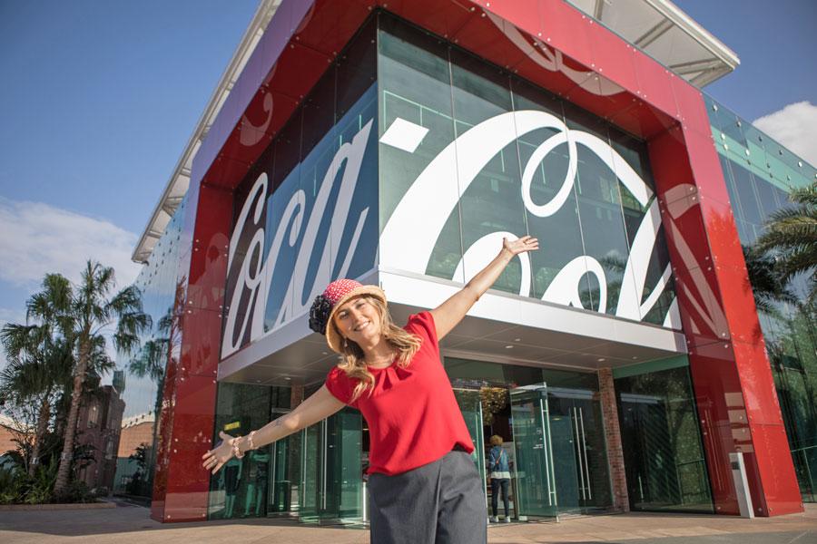 A linda loja da Coca-Cola no Disney Springs