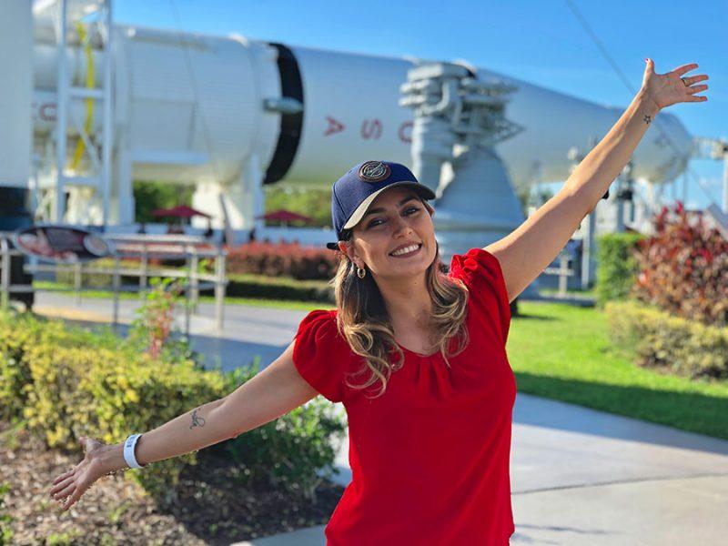 Lançamento de foguete NASA no Kennedy Space Center