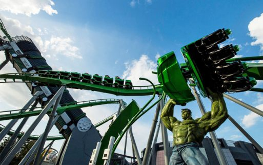 Montanha Russa The Incredible Hulk Coaster Universal's Islands of Adventure