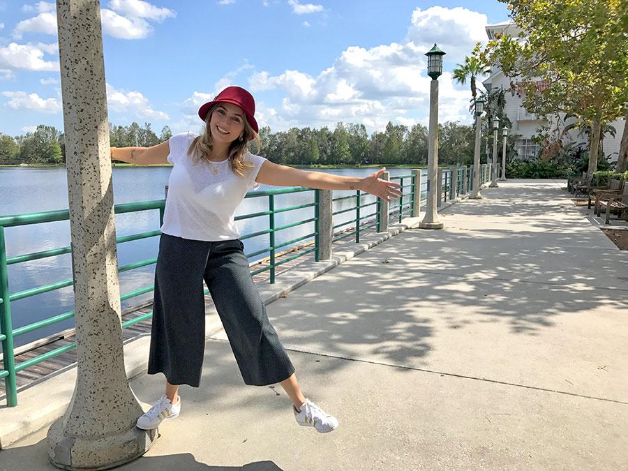 Duda Orlando em Celebration, a cidade projetada pela Disney